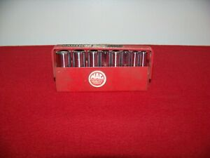Mac Tools 8 Piece Sae 6 Point 1 4 Drive Chrome Deep Well Socket Set With Tray