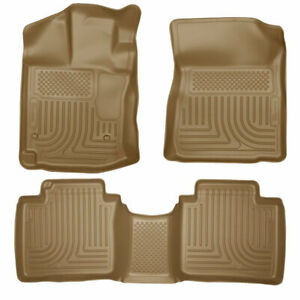 Husky Weatherbeater Front 2nd Seat Floor Liners Tan For Toyota Venza 2012 2015