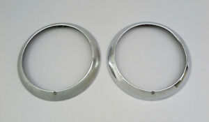 1954 1955 1956 Dodge Town Wagon Pickup Truck Chrome Headlight Rings