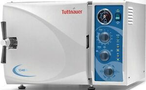 New Tuttnauer Fda 2340m Manual Autoclave Sterilizers For Dental Medical Offices