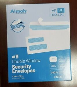 About 400 9 Double Window Self Seal Security Envelopes For Invoices Statement