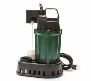 H2o Pro By Zoeller 024489 1 2 Hp 55 Gpm Submersible Sump Pump New