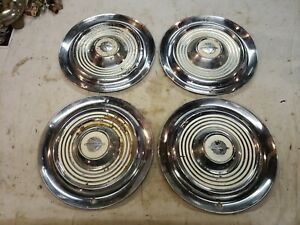 1954 1955 Oldsmobile Hubcaps 15 Hub Cap Wheel Cover