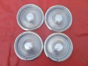 Vintage Nos 1967 Chrysler New Yorker Newport 14 Hubcaps Wheel Covers