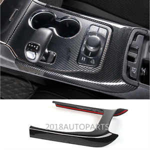 Carbon Fiber Abs Inner Gear Shift Frame Cover Trim For Jeep Grand Cherokee 2014