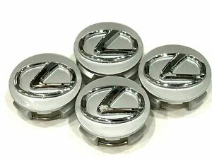 Set 4 New Wheel Rim Rims Center Hub Cap Caps Chrome Logo 62mm 06 2019 For Lexus