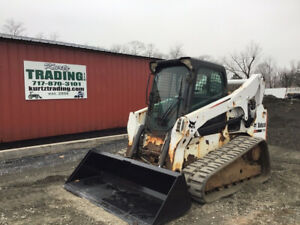 2012 Bobcat T750 Compact Track Skid Steer Loader W Cab Only 1800 Hours