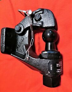 Pintle Hook 2 Ball Combo Trailer Hitch Towing Heavy Duty