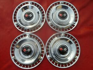 Vintage Nos 1961 Chevy Impala Belair Biscayne 14 Hubcaps Wheel Covers