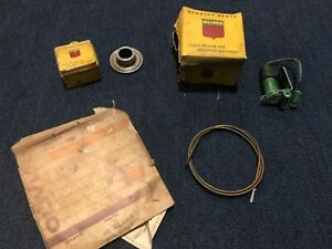 Nos Oliver Tractor Parts Lot Tach Cable Core Warning Light Bushing