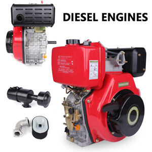 406cc 9hp 4 Stroke Single Cylinder Diesel Engine Air Cooled Recoil 3600rpm New