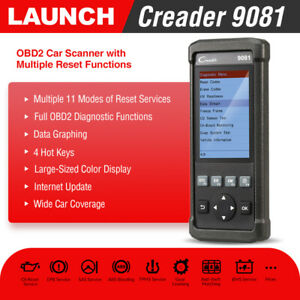 Launch X431 Cr9081 Obd2 Car Code Reader Scanner Diagnostic Tool Abs Srs Airbag