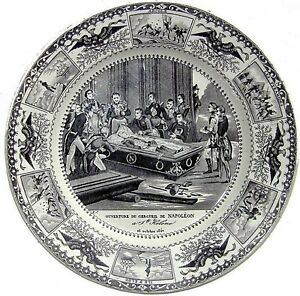 11 Of 12 Porcelain Plates Commemorating The Return Of Napoleon S Body To France