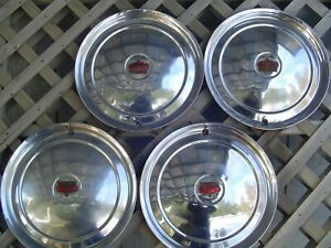 1950 50 Chrysler Imperial 300 Hubcaps Wheel Covers Center Caps Antique Vintage