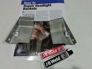 1964 1965 1966 Mustang Headlight Bucket Repair Kit Made In Usa