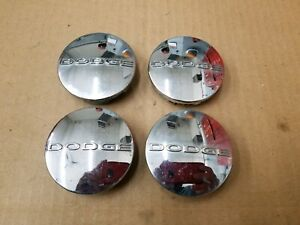 Dodge Oem Challenger Charger Caravan Dart 2 5 Chrome Center Cap Set 1sk35trmaa
