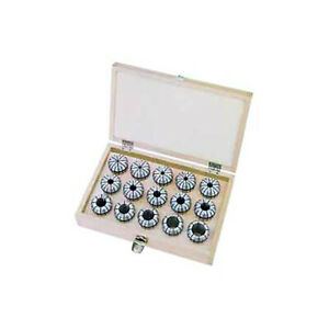 Er20 Round Collet Set 10 Pieces 1 8 Inside Diameter To 1 2 Inside Diameter