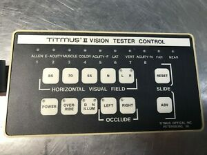 Titmus Ii Vision Tester Optometry Portable Manual Controller Works Great