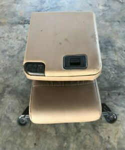 1999 2004 Ford F 250 F 350 Super Duty Jump Seat Console Arm Rest Tan Leather