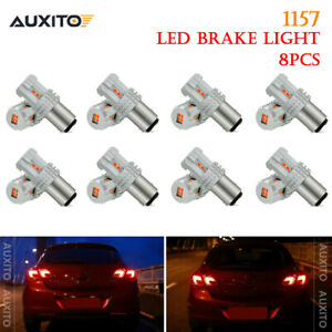 8x Cree 1157 Bay15d Led Brake Tail Stop Signal Light Red Bulb P21 5w Lamp Bright