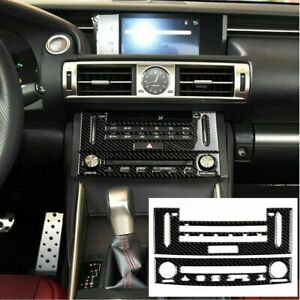 Carbon Fiber Air Condition Cd Panel Cover Trim For Lexus Is250 Is350 2014 2018