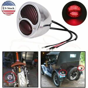 Retro For Ford Model A Duolamp Brake Stop Tail Light For Harley Chopper Hot Rod
