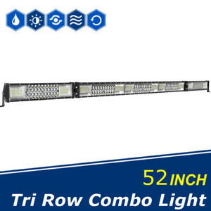 52 Inch 700w Led Work Light Bar Flood Spot Combo Offroad Driving Fog Lamp