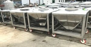 200 Gallon 800 Liter 26 Cuft Sanitary Stainless Steel Portable Tote Tanks