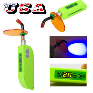 Usa Dental Wireless Cordless Led Curing Light Lamp Bs300 2000mw Noiseless Green