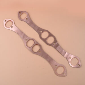 Sbc Oval Port Copper Header Exhaust Gaskets Fit For Sb Chevy 283 350 383