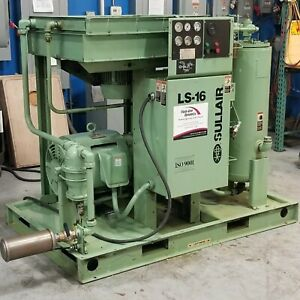 Used Sullair Ls 16 75 Hp Rotary Screw Air Compressor Very Clean