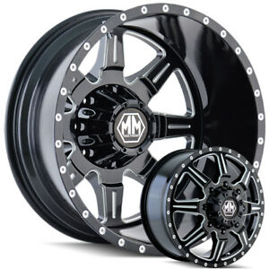 Mayhem Monstir 22 Dually Wheels Chevy Dodge Ram Gmc 3500 Ford F350 F450