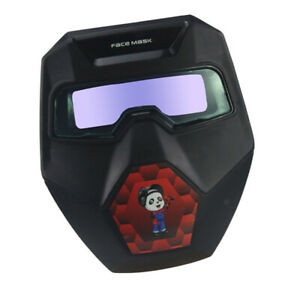 Solar Powered Welding Glasses Auto Darkening Welding Mask Helmet W Eye Goggles