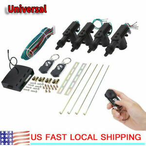 Universal 4 Door Car Central Power Door Lock Unlock Remote Kit 2keyless Entry