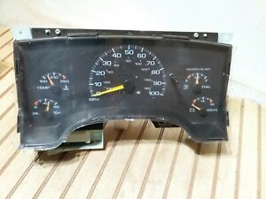 Chevy gmc S10 Truck Instrument Gauge Cluster Manual Shift 124 810 Miles Oem 1997