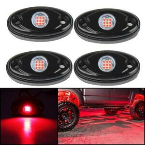 4 Pods Car Truck Red Led Rock Lights Waterproof Led Neon Underglow Lights Atv