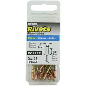 Rivets Copper 1 8in