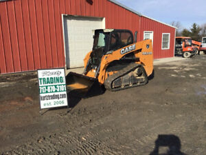 2014 Case Tr270 Compact Track Skid Steer Loader W Cab Joysticks Only 600 Hours
