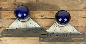 Antique Culver Sterns Ace Blue Tail Lights Rat Rod Emergency Vehicle