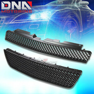 06 16 Chevy Impala Mesh Front Upper Lower Hood Bumper Abs Grill Grille Guard Kit