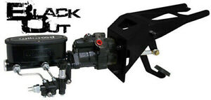 Black Out 1953 56 Ford F100 Firewall Wilwood Hydro boost Power Brake Booster Kit
