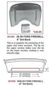 28 29 Ford Model A Firewall Kit Recessed 4