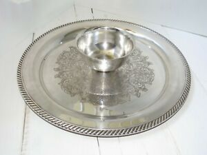 Wm A Rogers Chip And Dip Serving Tray 15