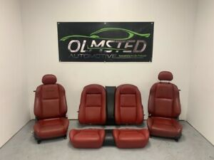 04 05 06 Pontiac Gto Front Rear Complete Power Seats Leather Red Oem Gm