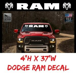 Dodge Ram Truck Windshield Decal Sticker Banner 37 Usdm Vinyl Tailgate Dakota