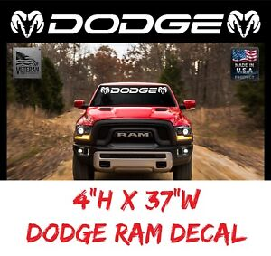 Dodge Ram Truck Windshield Vinyl Decal Sticker Banner 37 Usdm Tailgate Dakota