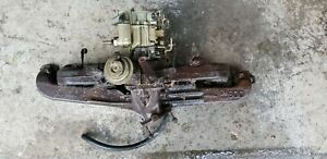 Chevy 230 250 292 Intake exhaust manifold carb