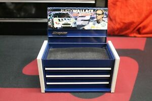 Snap On Tools Mini Micro Tool Box Top Chest Blue Rusty Wallace Nascar