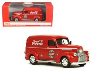 1945 Coca-Cola Panel Delivery Van Red 1/43 Diecast Model Car by Motorcity Classi