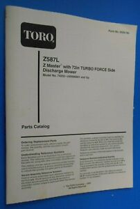 Toro Z587 l Z Master With 72 Turbo Force Deck Parts Catalog